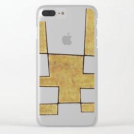 Protoglifo 06 'Mustard traverse cream' Clear iPhone Case