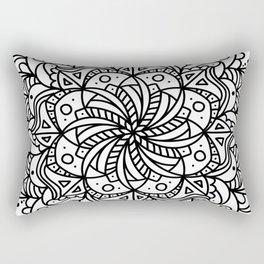 Floral Reflection Rectangular Pillow