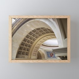Wisconsin Capitol Building Arches And Angles Framed Mini Art Print