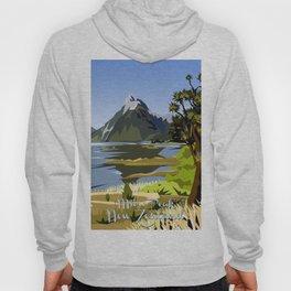 Mitre Peak, MIlford Sound, New Zealand Hoody
