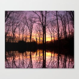 Sunset Beyond The Trees Canvas Print
