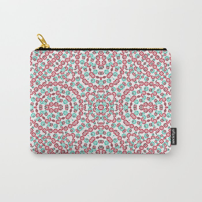 Multicolor Graphic Pattern Carry-All Pouch