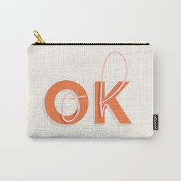 oh OK typography art Carry-All Pouch