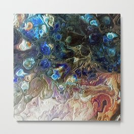 Currents 1 (Abstract Dachshund) Metal Print