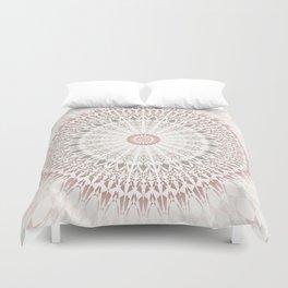 Cream Rose Mandala Duvet Cover