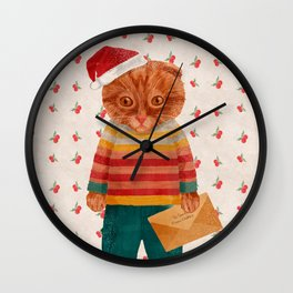 Oakley the Catster Wall Clock