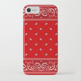 Paisley - Bandana - Red - Southwestern - Boho iPhone Case