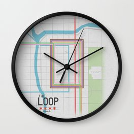 Chicago's Loop Wall Clock