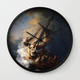 The Storm on the Sea of Galilee-Rembrandt Wall Clock
