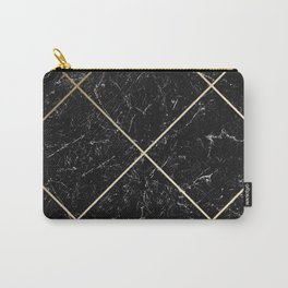 Gold & Black Marble 01 Carry-All Pouch