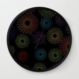 Colorful Christmas snowflakes pattern- holiday season gifts- Happy new year gifts Wall Clock