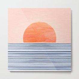 Summer Sunrise - Minimal Abstract Metal Print