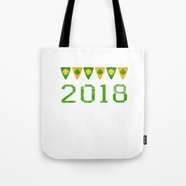 2018 Irish Flag Shamrocks St. Patrick's Day Ireland Tote Bag