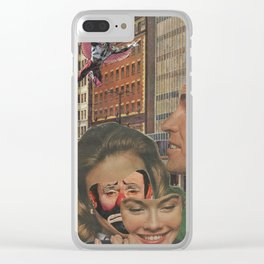 Clown Lady Clear iPhone Case