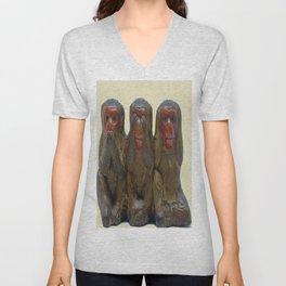 Three Wise Monkeys Unisex V-Neck