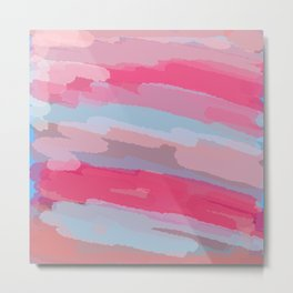 Thru the Desert Abstract Painting Metal Print
