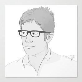 John Sheppard Portrait Sketch Canvas Print