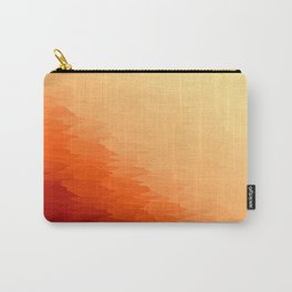 Orange Texture Ombre Carry-All Pouch