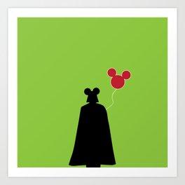 Vader Mouse Balloons Art Print