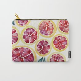 Sliced Grapefruits Watercolor Carry-All Pouch