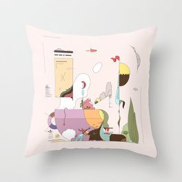 Late Afternoon Tea Throw Pillow