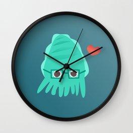 Cuddly the Cuddlefish - heart you Wall Clock