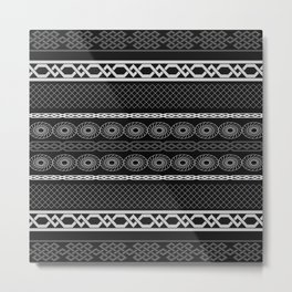 Infinity Pattern (black & white) Metal Print