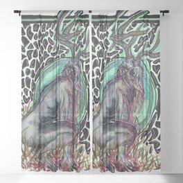 Curse of the Wendigo Sheer Curtain