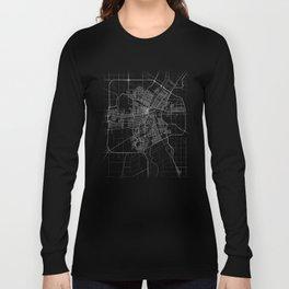 Minimal Winnipeg Canada Manitoba City Map Tee Long Sleeve T-shirt