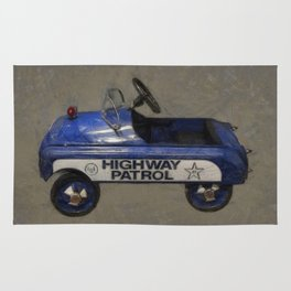 Highway Patrol Pedal Car Rug