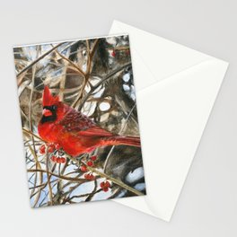 Winter Cardinal by Teresa Thompson Stationery Cards