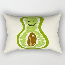 Smiling Avocado Food Rectangular Pillow