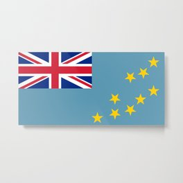 Tuvalu Flag Metal Print
