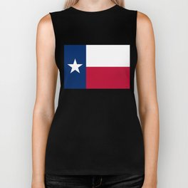 Texas state flag, High Quality Authentic Version Biker Tank