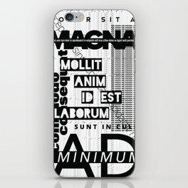 Lorem Ipsum Inverted iPhone Skin