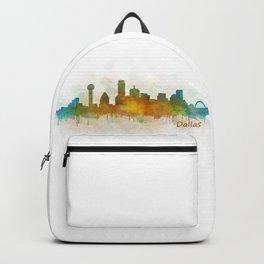 Dallas Texas City Skyline watercolor v03 Backpack