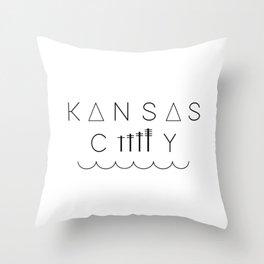 Downtown Kansas City Throw Pillow