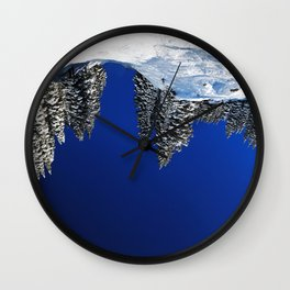 land, sea and her Wall Clock