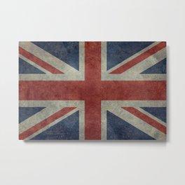 England's Union Jack, Dark Vintage 3:5 scale Metal Print