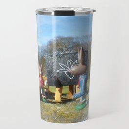 Easter Bunny school, Glass Ball Photography Travel Mug