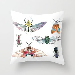 Bugged Out Throw Pillow