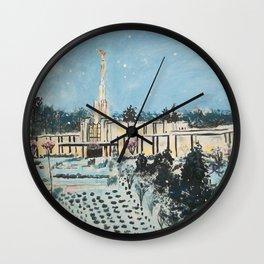 Atlanta Georgia LDS Temple Snowfall Wall Clock