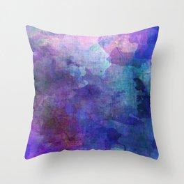 blue opal gemstone Throw Pillow