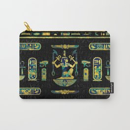 Egyptian  Gold and Blue Marble Ornament Carry-All Pouch