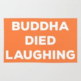BUDDHA DIED LAUGHING Rug
