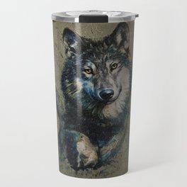 Wolf 2 background Travel Mug
