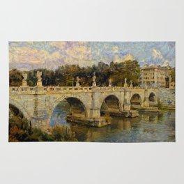 French Impressionistic Arched Bridge Rug