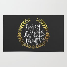 Enjoy The Little Things Motivational Quote Rug