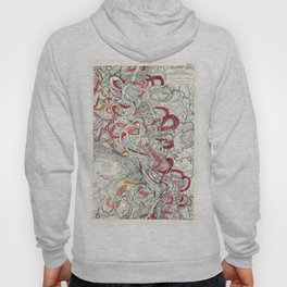 Cool Vintage Map of Mississippi River - Sheet 6 Hoody