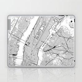 New York City White Map Laptop & iPad Skin
